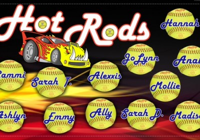 Accent Signs & Banners Hot Rods Banner