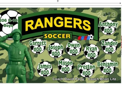Accent Signs & Banners Rangers Soccer Banner